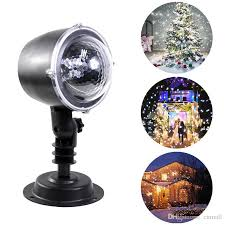 Christmas Snowflake Laser Light <b>Snowfall Projector IP65 Moving</b> ...
