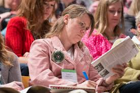 Image result for woman at a conference