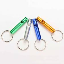 <b>1Pc</b> Mini Whistle Keychain Aluminum Alloy Keyring For <b>Outdoor</b> ...