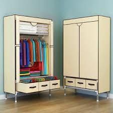 <b>Portable Clothes</b> Wardrobe <b>Home</b> Rack Storage Closet Organizer ...