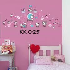 jual stiker tembok hello kitty: Jual hello kitty fashion wall sticker transparant azka momshop