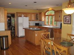 wall color ideas oak: image of green most popular kitchen wall color