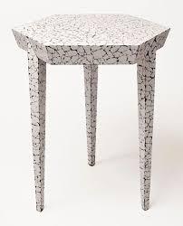 Hexagonal Side Table in <b>Cracked Eggshell</b> - Simon Orrell | 가구 ...