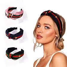 KATCOCO Red <b>Green</b> Stripe Headbands for Women - Hair <b>Hoops</b> ...