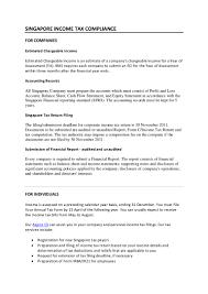 singapore income tax compliance tax return deadlines tax filing d