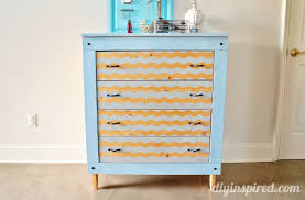 spray painted dresser makeover chevron painted furniture