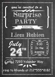 surprise party invitations new selections spring  surprise party invitations