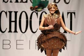 in pictures edible chocolate outfits at the chocolate fashion in pictures edible chocolate outfits at the chocolate fashion show