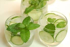 Image result for lemon cucumber mint water