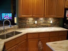 kitchen backsplash rock stone