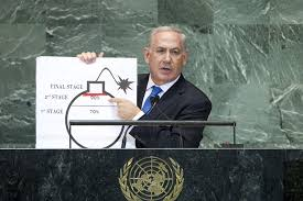 Image result for Benjamin Netanyahu addresses the United Nations General Assembly in New York