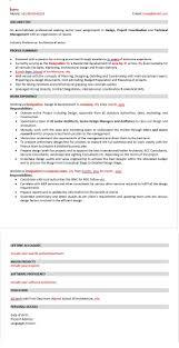 sample architect resume sample resume of senior level architect