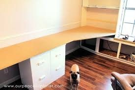 build a large surface home office desk from inexpensive 3 4quot mdf wood blank630x20 build office desk woodworking