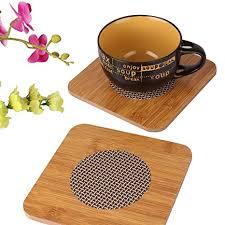 HOKIPO Eco-Friendly Square Shape <b>Bamboo Insulation</b> Heat <b>Table</b> ...