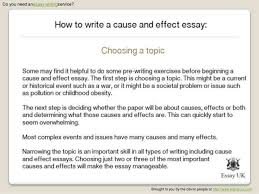 how to make a cause and effect essay   our work how to write a cause and effect essay on global warming