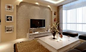living room completed cream wall