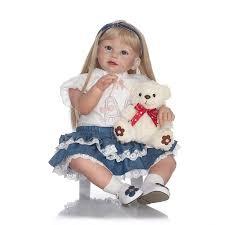 <b>70cm</b> Alive <b>Baby</b> Girls Dolls Handmade Soft <b>Silicone Reborn</b> ...