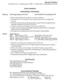 chronological resume example  flight engineerresume sample for a flight engineer