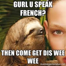 Gurl u speak french? Then come get dis wee wee - Dirty Sloth ... via Relatably.com