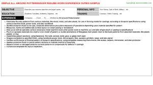 around patternmaker resumeall around patternmaker resume