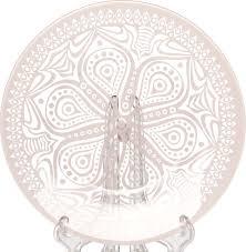 "<b>Тарелка Pasabahce</b> ""БОХО"", цвет: розовый, диаметр 19,5 см"