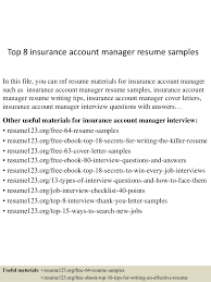 insurance account manager resume cipanewsletter top8insuranceaccountmanagerresumesamples 150514023349 lva1 app6891 thumbnail 4 jpg cb u003d1431570873 from slideshare net