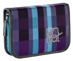 <b>Пенал All Out 138328</b> Summer Check Purple 1отд. (фиолетовый)