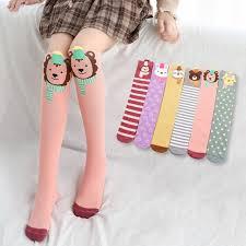 <b>Cartoon Animal Lovely</b> Solid <b>Children</b> Girls Socks Soft High Knee ...