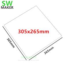 1pcs 305x265x3mm 305x265x4mm Borosilicate Glass Plate / Bed ...