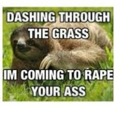 Rape Sloth on Pinterest | Sloths, Creepy Sloth and Sloth Memes via Relatably.com