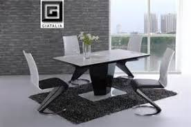 black and white dining table set: black and white dining table sets