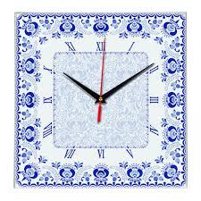 <b>Часы настенные стеклянные Times</b> Square оптом под логотип