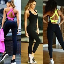 <b>2019</b> One Piece <b>Sport Clothing</b> Backless <b>Sport Suit</b> Workout ...