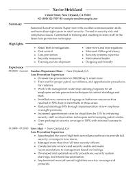 best loss prevention supervisor resume example livecareer create my resume