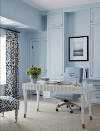 baby blue home office with white desk pantone airy blue sky blue light blue home office