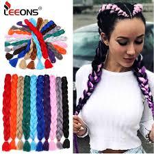 <b>Leeons</b> Long Crochet braiding Hair 165g Xpression Jumbo Braid ...