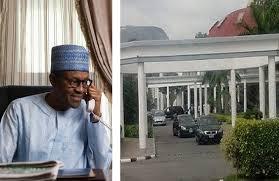 Image result for Buhari Finally Moves Into Aso Rock Villa
