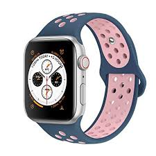 AdMaster Compatible for Apple Watch <b>Bands</b> 38mm,Soft <b>Silicone</b> ...