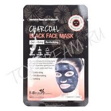 MBEAUTY Charcoal Black Face Mask - <b>Восстанавливающая</b> ...