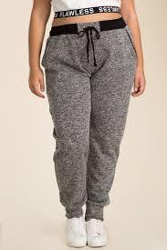 Women's Plus Size Pants | High <b>Impact Jogger</b> Pant | A'GACI | Plus ...