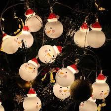 LED Charming <b>Christmas Snowman Shape</b> String Light for Home ...