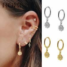 ROXI <b>2019 New</b> Small <b>925 Sterling</b> Silver Hanging Stud Earrings ...