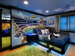 before after from attic to boys bedroom kids room ideas for bland gets a baseball themed captivating cool teenage rooms guys