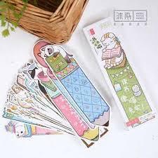 <b>30pcs</b>/<b>lot Cute Funny Cat</b> Shaped Paper Bookmark Gifts Stationery ...