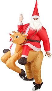 Wecloth <b>Xmas Inflatable</b> Elk <b>Costume Christmas Santa</b> Cosplay ...