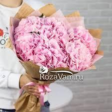 <b>Букет</b> из <b>5 розовых гортензий</b> - Арт. 2390