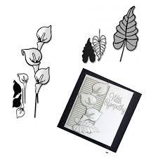 <b>Flower Branch Lily</b> Cutting Dies DIY Scrapbooking Stencils Paper ...