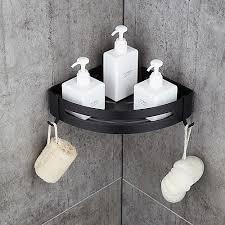 badeværelse hylde plads <b>aluminium</b> børstet sort og sølvfarvet ...