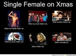 Single Female on Xmas... - Meme Generator What i do via Relatably.com