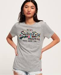 Superdry <b>Vintage</b> Logo Boutique <b>Embroidery</b> T-Shirt - <b>Women's</b> T ...
